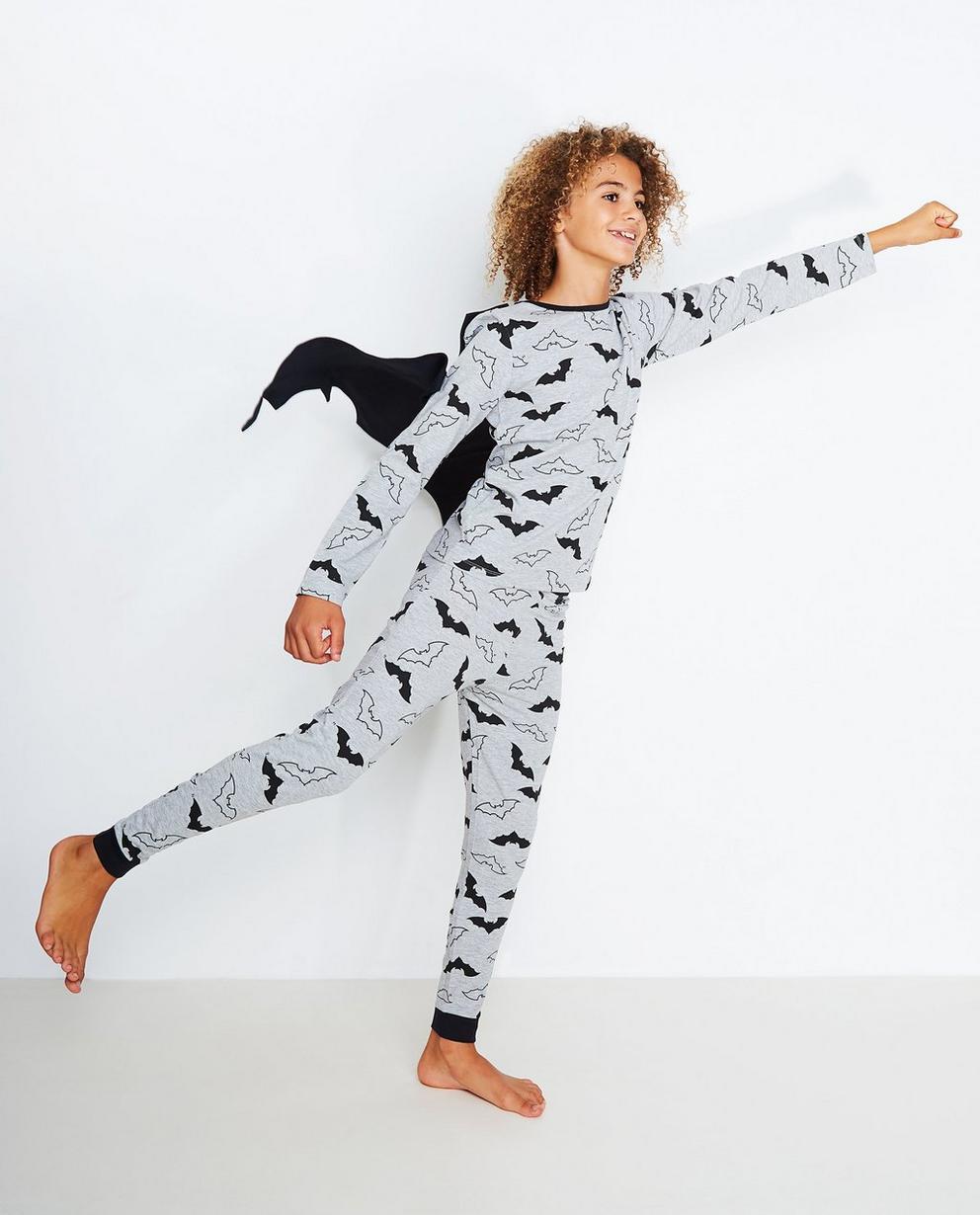 Schlafanzug für Jungen - mit Fledermausprint und Kapuze, von Nachtwache - Nachtwacht